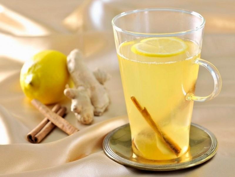 Тонизирующий чай с имбирем