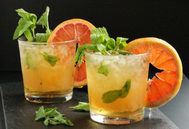 Грейпфрутовый сок с перечной мятой