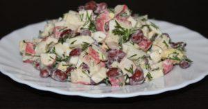 Простые салаты с фасолью. Рецепты с фото