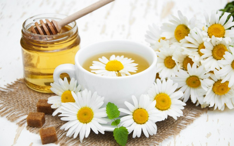 мед с ромашкой