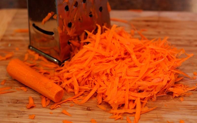 блюда с тертой морковью