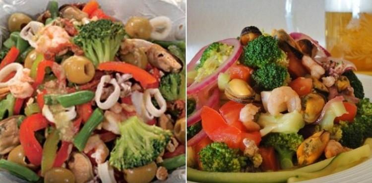 Салат с брокколи «Морской»